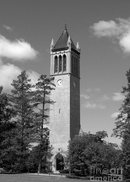 American Greeting Card featuring the photograph Iowa State University Campanile by University Icons