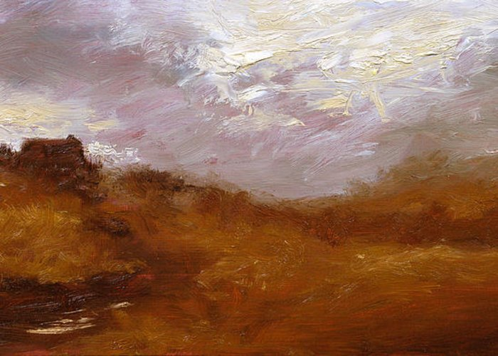 Landscape Paintings Greeting Card featuring the painting Irish Landscape II by John Silver