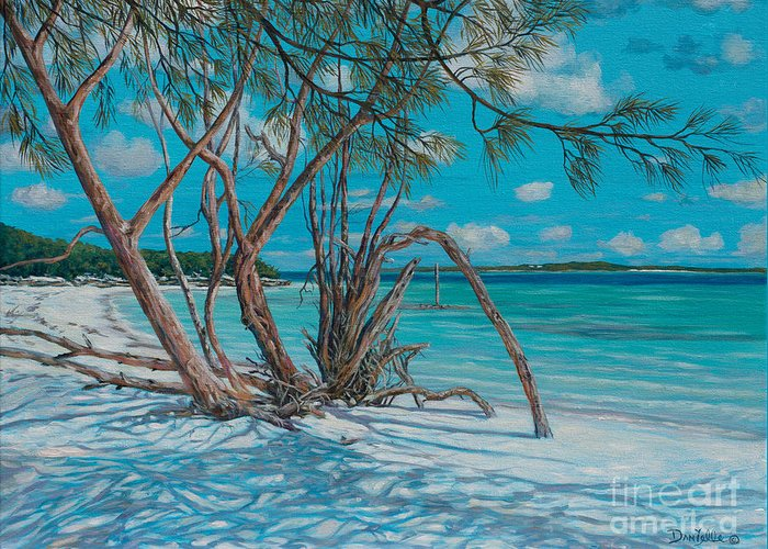 Island Time Greeting Card featuring the painting Island Time by Danielle Perry