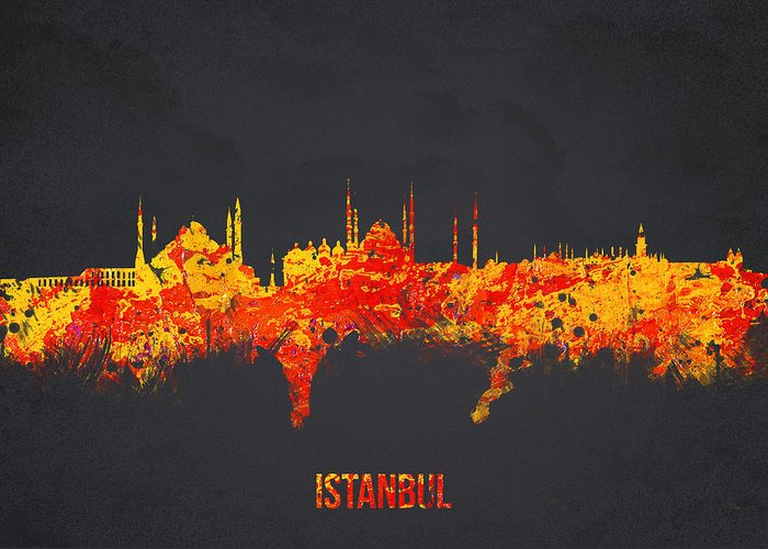 Architecture Greeting Card featuring the digital art Istanbul Turkey by Aged Pixel