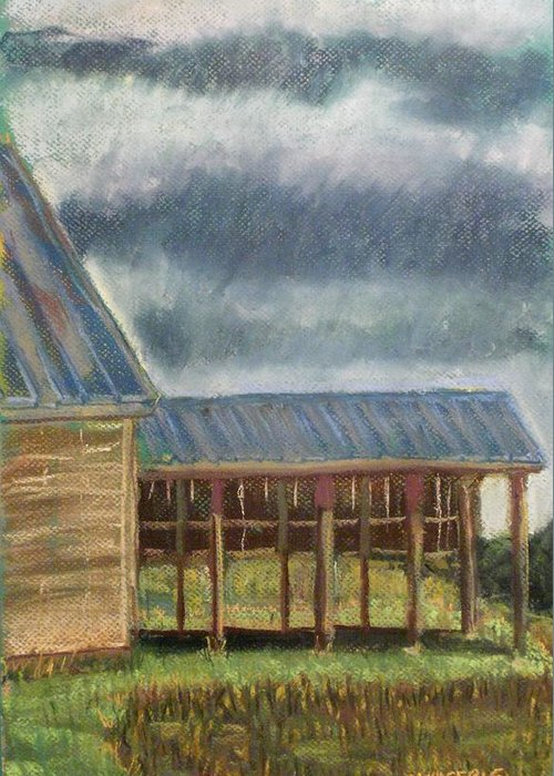 Plein Air Painted Greeting Card featuring the pastel It Once Had A Use by Tim Swagerle