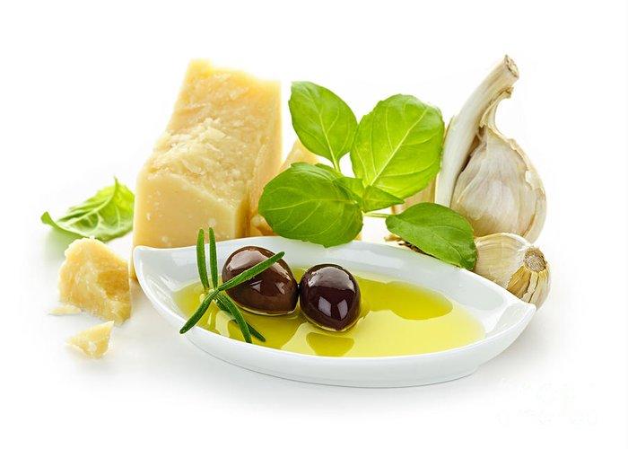 Italian Greeting Card featuring the photograph Italian Flavors by Elena Elisseeva