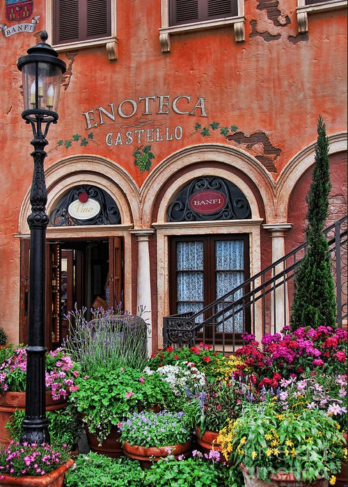 Rome Greeting Card featuring the photograph Italian Restaurant by Lee Dos Santos