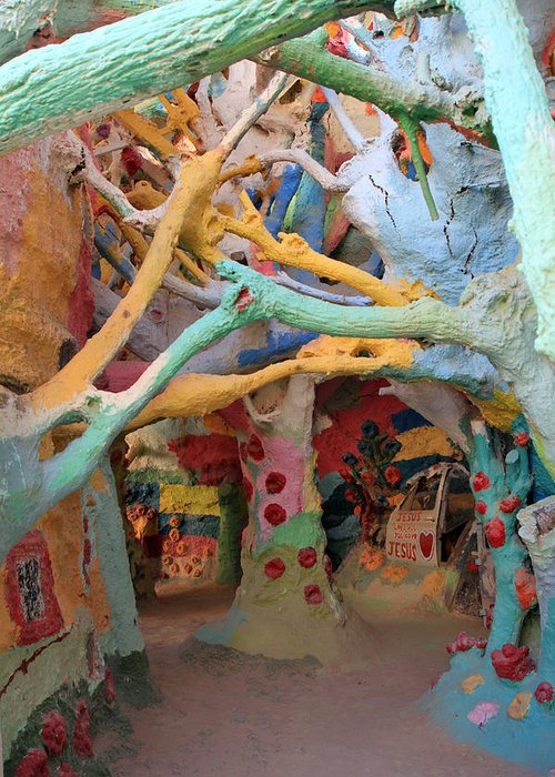 Salvation Mountain Greeting Card featuring the photograph It's A Magical World by Laurie Search