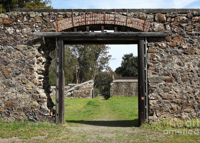 Sonoma Greeting Card featuring the photograph Jack London Ranch Winery Ruins 5d22128 by Wingsdomain Art and Photography