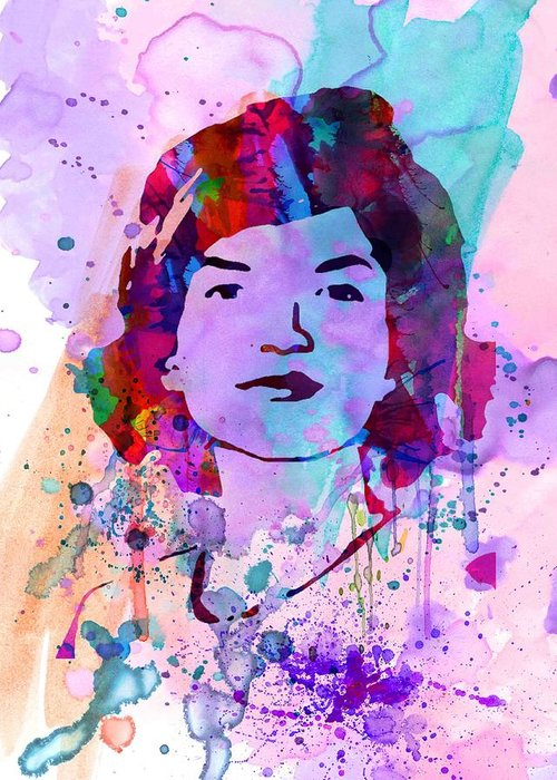 Jackie Kennedy Greeting Card featuring the painting Jackie Kennedy Watercolor by Naxart Studio