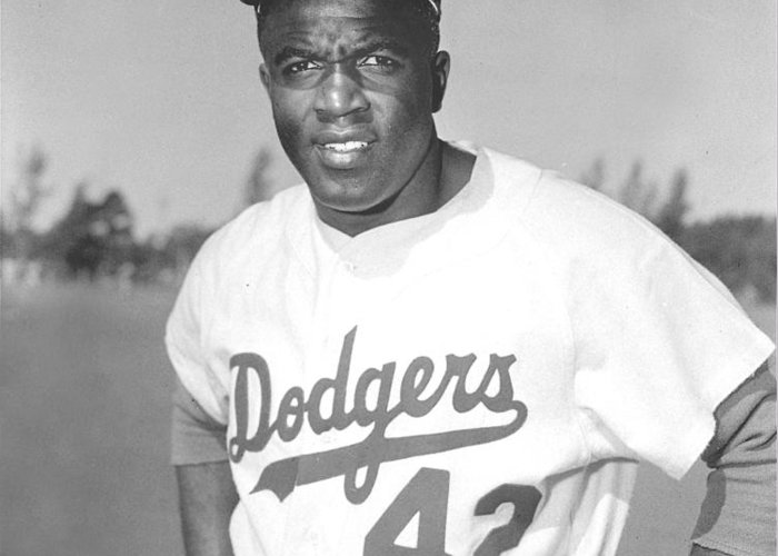 African Americans Greeting Card featuring the photograph Jackie Robinson Poster by Gianfranco Weiss