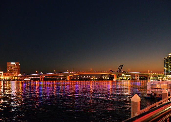 Jax Greeting Card featuring the photograph Jacksonville Acosta Bridge by Christine Till