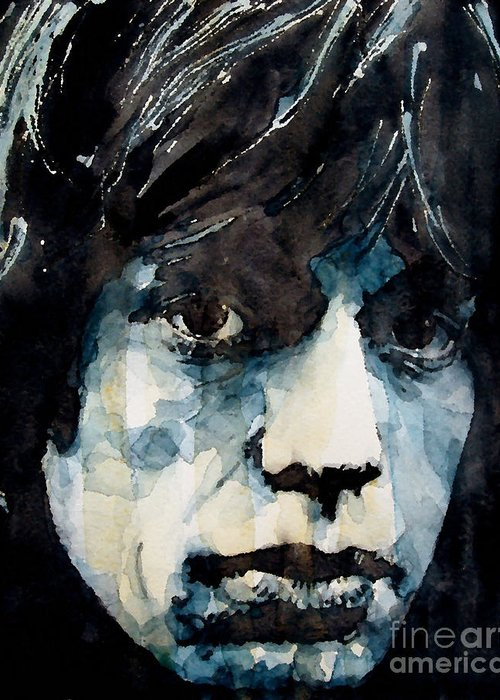 Mick Jagger Greeting Card featuring the painting Jagger No3 by Paul Lovering