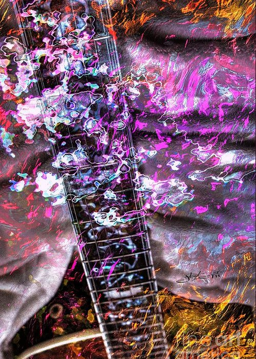 Guiacoustic Greeting Card featuring the photograph Jammin Out Digital Guitar Art By Steven Langston by Steven Lebron Langston