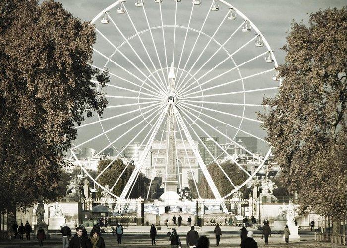 Jardin Des Tuileries Greeting Card featuring the photograph Jardin Des Tuileries Park Paris France Europe by Jon Boyes