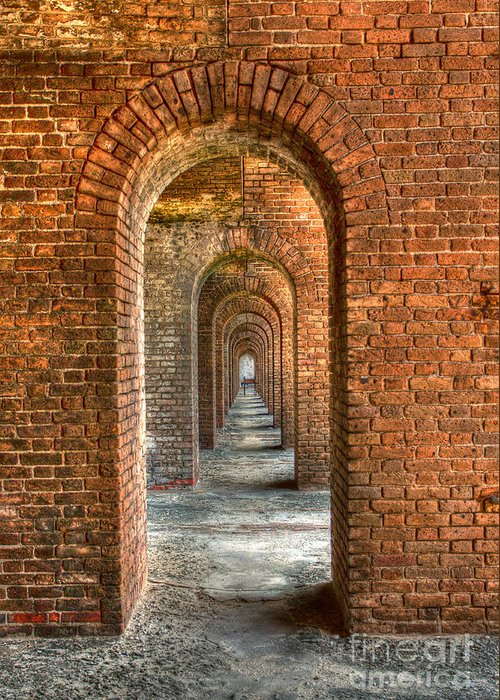 Jefferson Arches Greeting Card featuring the photograph Jefferson's Arches by Marco Crupi