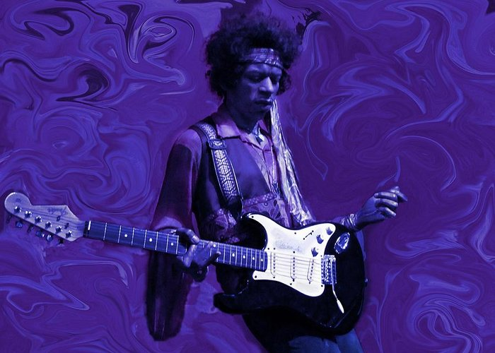 Jimi Hendrix Greeting Card featuring the photograph Jimi Hendrix Purple Haze by David Dehner