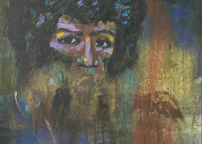 Jimi Hendrix Greeting Card featuring the painting Jimi Hendrix by Vic Mastis