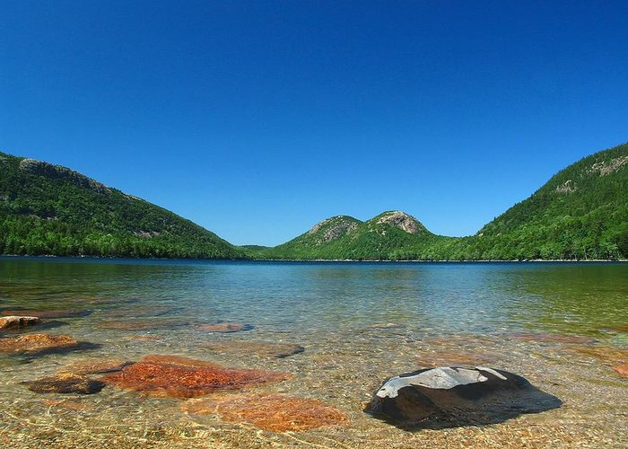Maine Greeting Card featuring the Jordan Pond And The Bubbles by Juergen Roth