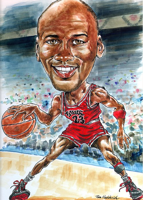 Jordan Greeting Card featuring the painting Jordan by Tom Hedderich