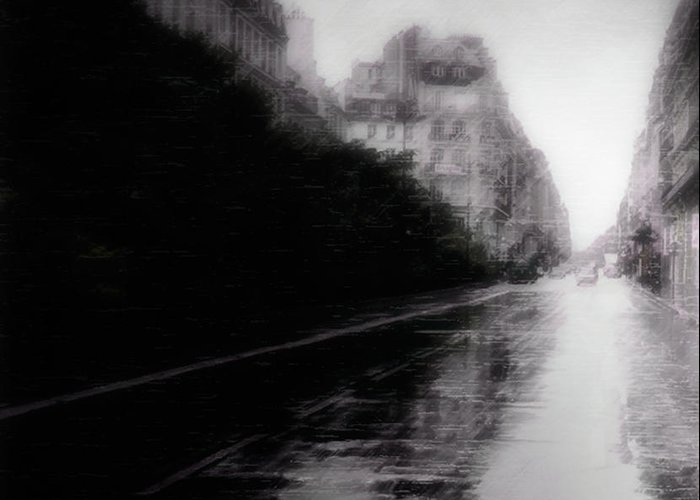 Photo Greeting Card featuring the photograph Jour De Pluie by David Fox