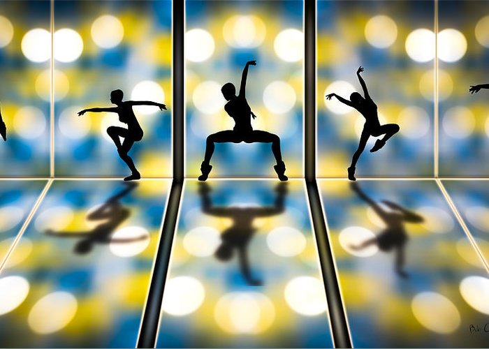 Dance Greeting Card featuring the digital art Joy Of Movement by Bob Orsillo