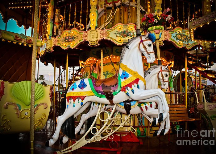 Carousel Greeting Card featuring the photograph Jumper by Colleen Kammerer