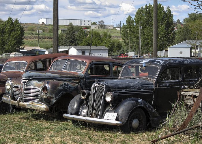 old Cars Greeting Card featuring the photograph Junk Or Treasure by Daniel Hagerman