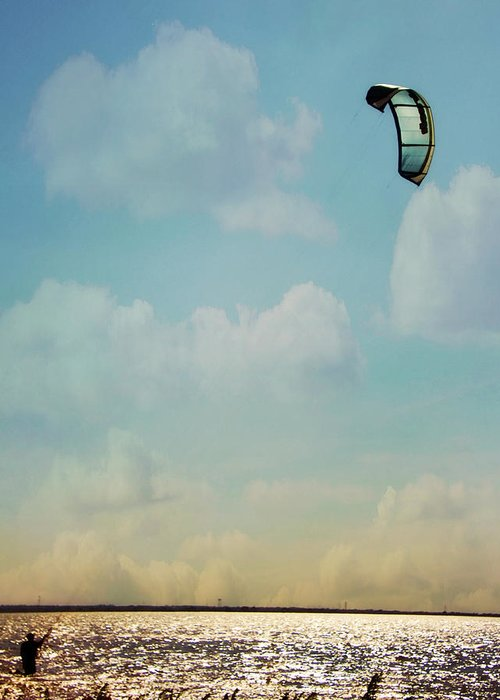 Hefner Greeting Card featuring the photograph Just Enough Wind by Lana Trussell