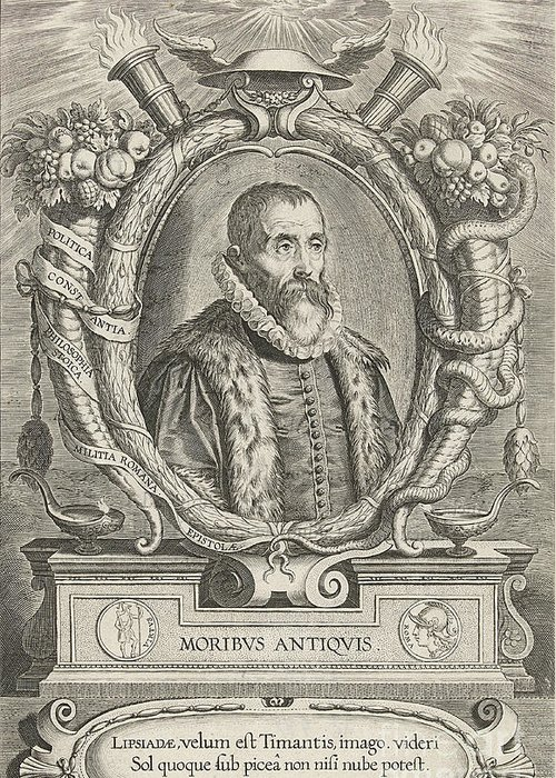 History Greeting Card featuring the photograph Justus Lipsius, Belgian Scholar by Photo Researchers