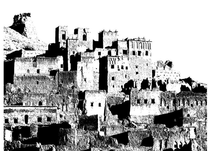 Old Unique Kind Of Buildings Called The Trachea Greeting Card featuring the photograph Kasaba by Graid Abdelkarim