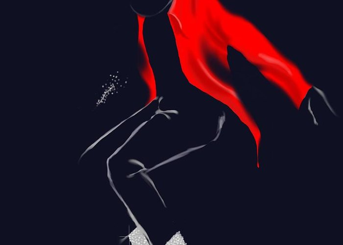 Michael Jackson Greeting Card featuring the digital art Keep Dancing by Jeremy Alexander