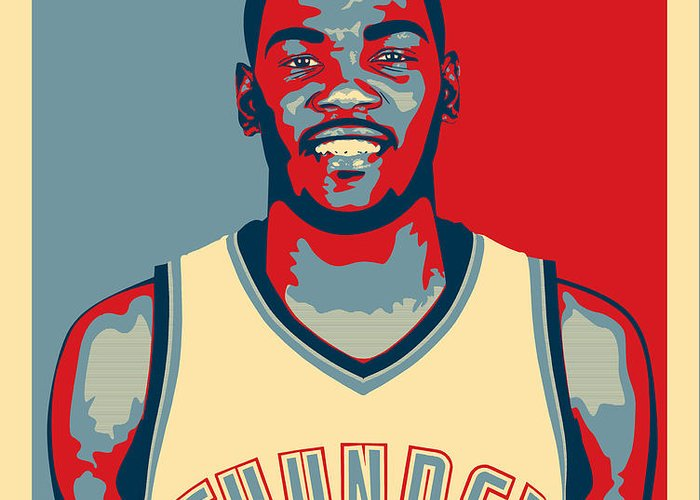Kevin Durant Greeting Card featuring the digital art Kevin Durant by Taylan Soyturk