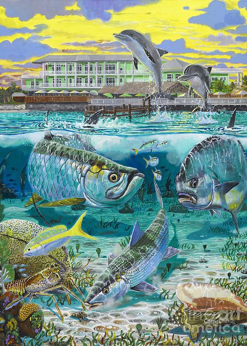 Grand Slam Greeting Card featuring the painting Key Largo Grand Slam by Carey Chen