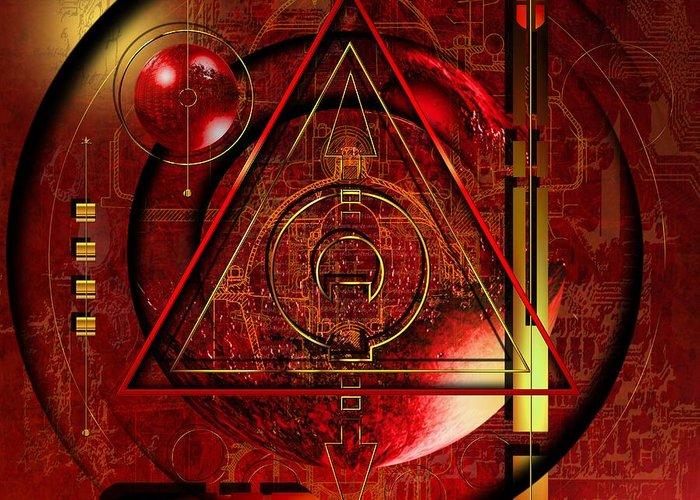 Highly Imaginative Greeting Card featuring the digital art King Crimson by Franziskus Pfleghart