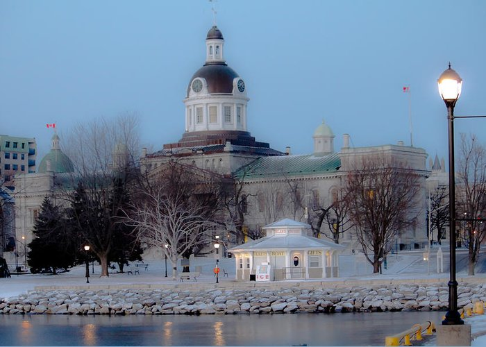 Eastern Ontario Greeting Card featuring the photograph Kingston City Hall by Michel Soucy