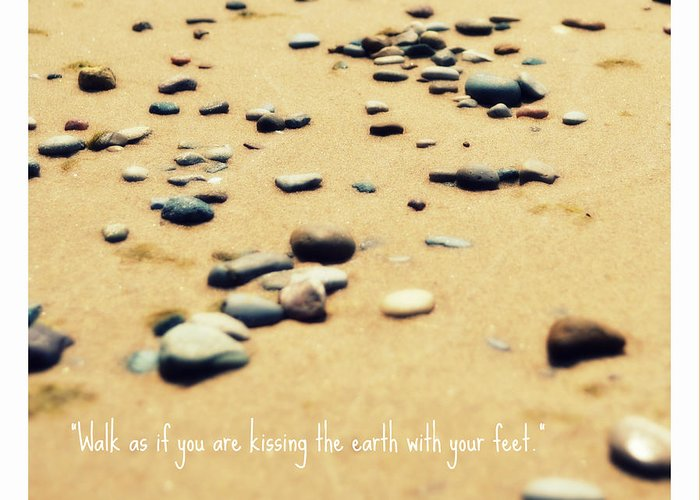 Stones Greeting Card featuring the photograph Kissing The Earth by Poetry and Art
