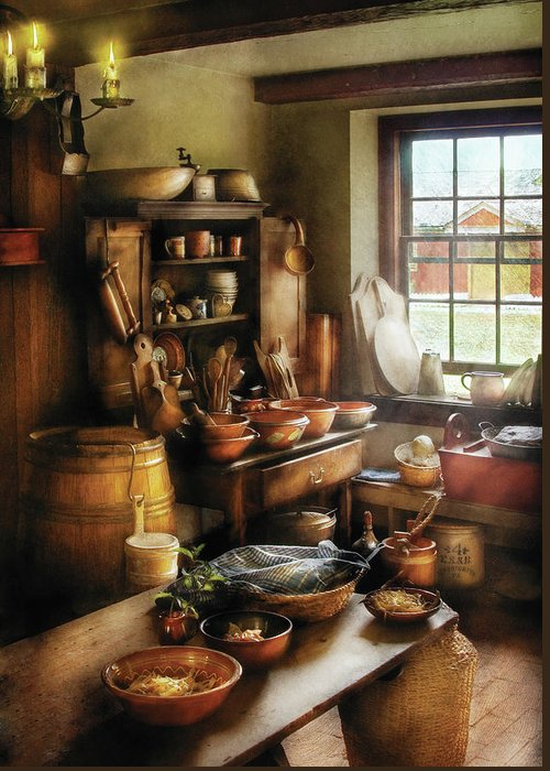 Hdr Greeting Card featuring the photograph Kitchen - Nothing Like Home Cooking by Mike Savad
