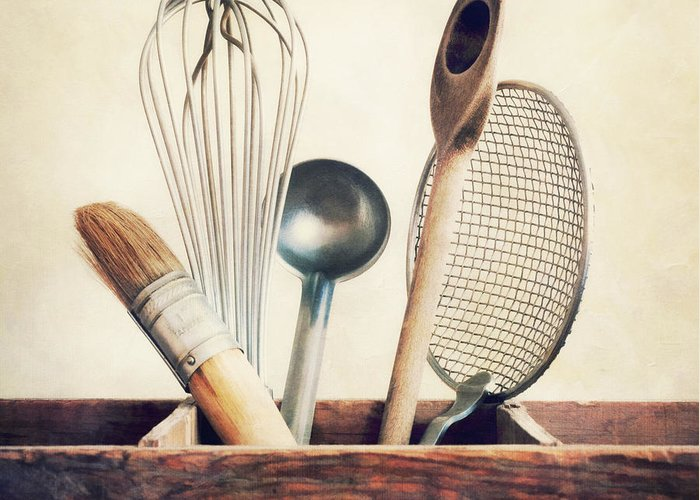 Cook Greeting Card featuring the photograph Kitchenware by Priska Wettstein