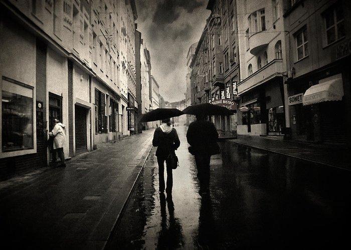 Rain Photograph Greeting Card featuring the photograph Koblizna by Taylan Apukovska