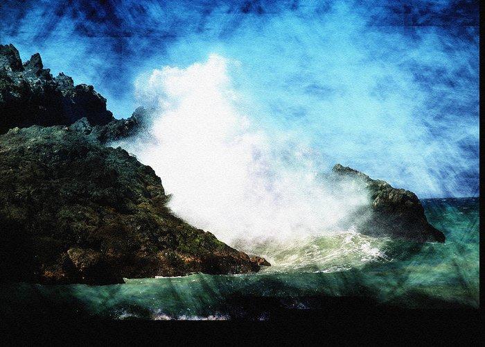 Ocean Greeting Card featuring the photograph Kona Sea by Athala Carole Bruckner