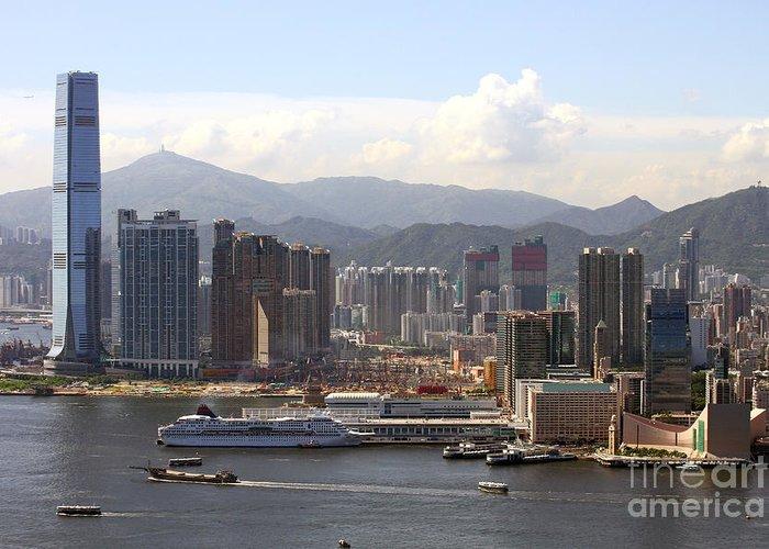 Hong Kong Greeting Card featuring the photograph Kowloon In Hong Kong by Lars Ruecker