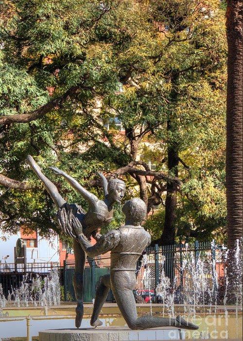 La Fuento De Los Bailarines Greeting Card featuring the photograph La Fuento De Los Bailarines by Deborah Smolinske
