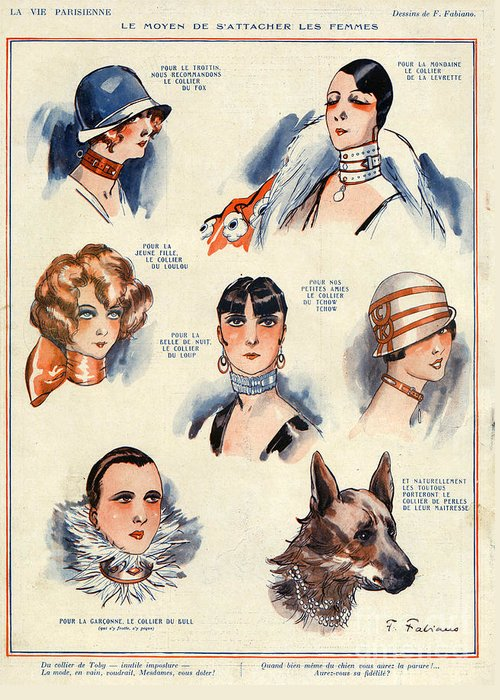 French Greeting Card featuring the drawing La Vie Parisienne 1924 1850s France F by The Advertising Archives