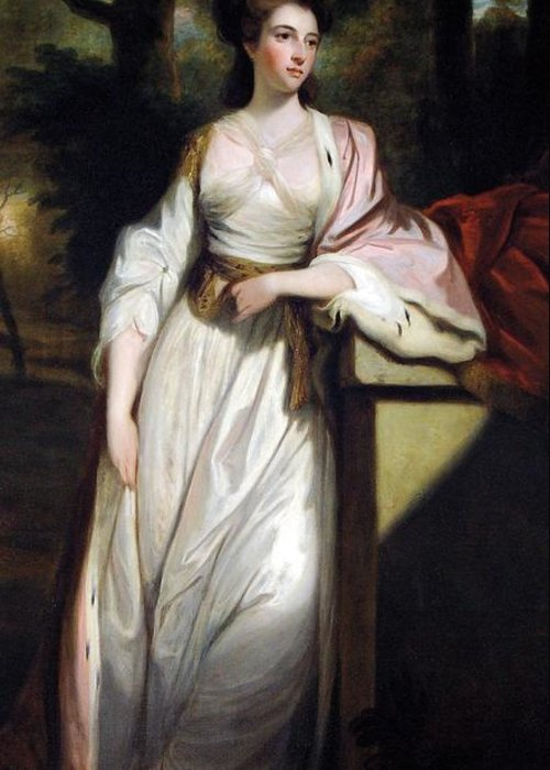 Portrait Greeting Card featuring the painting Lady Mary Isabella Somerset by Robert Smirke