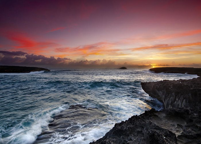 Laie Point Greeting Card featuring the photograph Laie Point Sunrise by Sean Davey