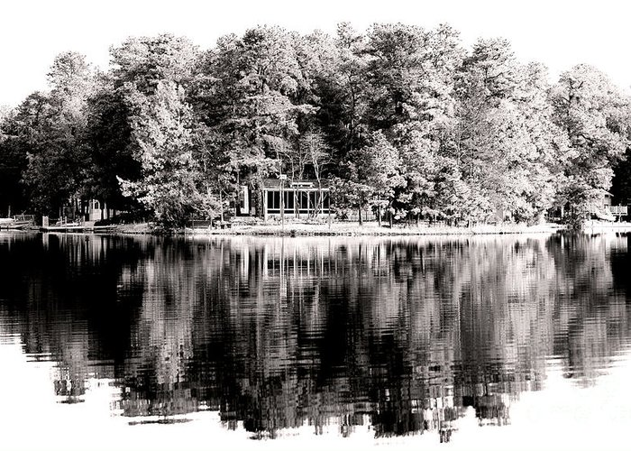 Lake House Greeting Card featuring the photograph Lake House by John Rizzuto