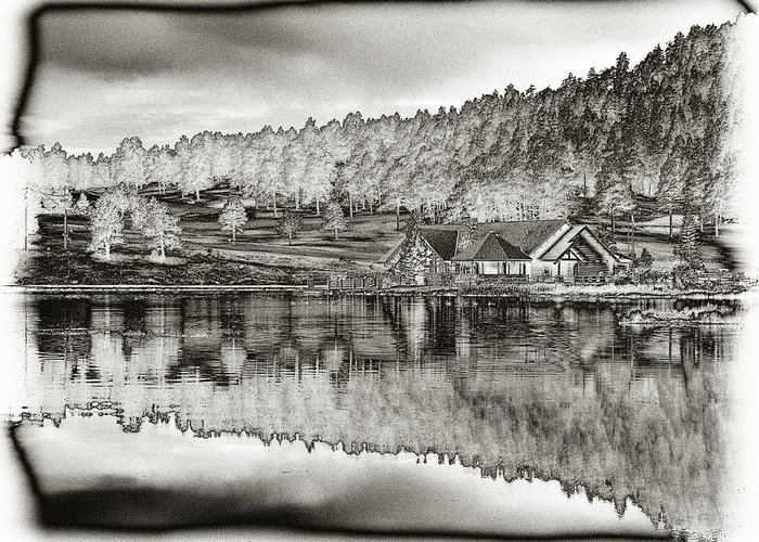 Lake House Greeting Card featuring the photograph Lake House Reflection by Ron White