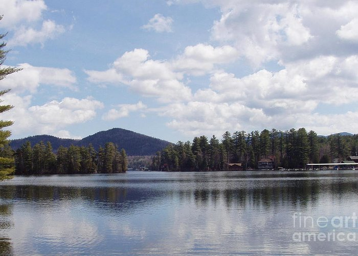 Lake Placid Greeting Card featuring the photograph Lake Placid by John Telfer
