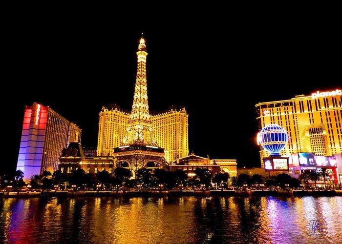Paris Las Vegas Hotel And Casino Greeting Card featuring the photograph Las Vegas 012 by Lance Vaughn