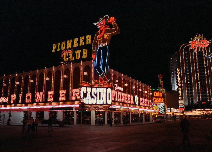 America Greeting Card featuring the photograph Las Vegas 1983 by Frank Romeo