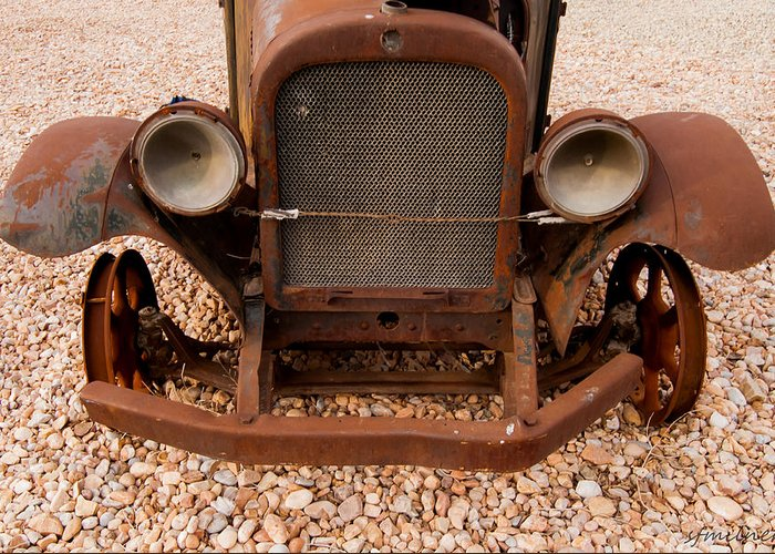 Automotive Greeting Card featuring the photograph Last Stop by Steven Milner