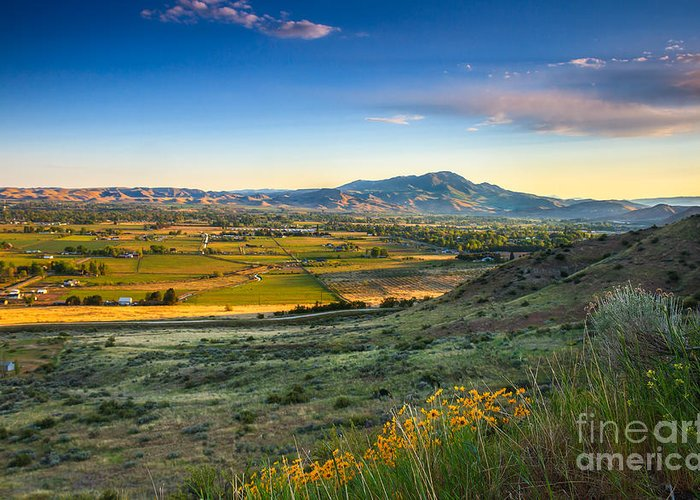 Gem County Greeting Card featuring the photograph Late Spring Time View by Robert Bales