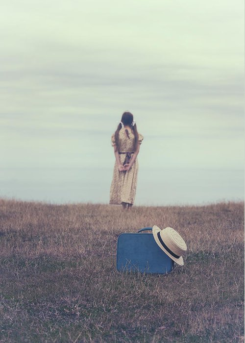 Girl Greeting Card featuring the photograph Leaving The Past Behind Me by Joana Kruse